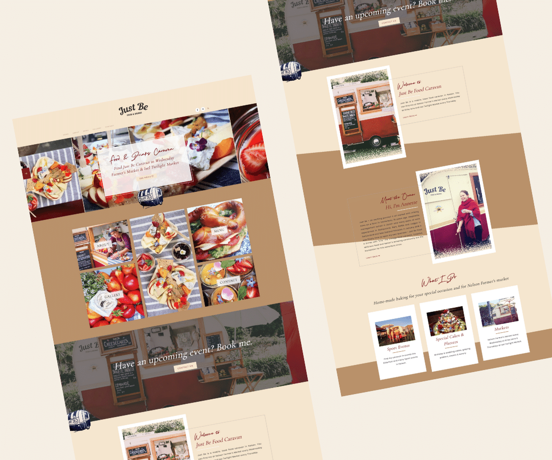 Just Be Food Caravan Web Design