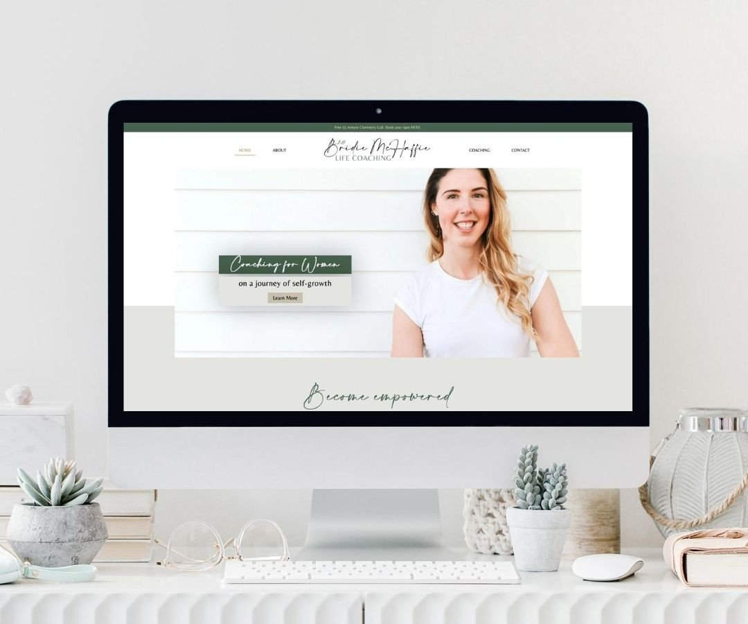 Bridie McHaffie Life Coach Website Design