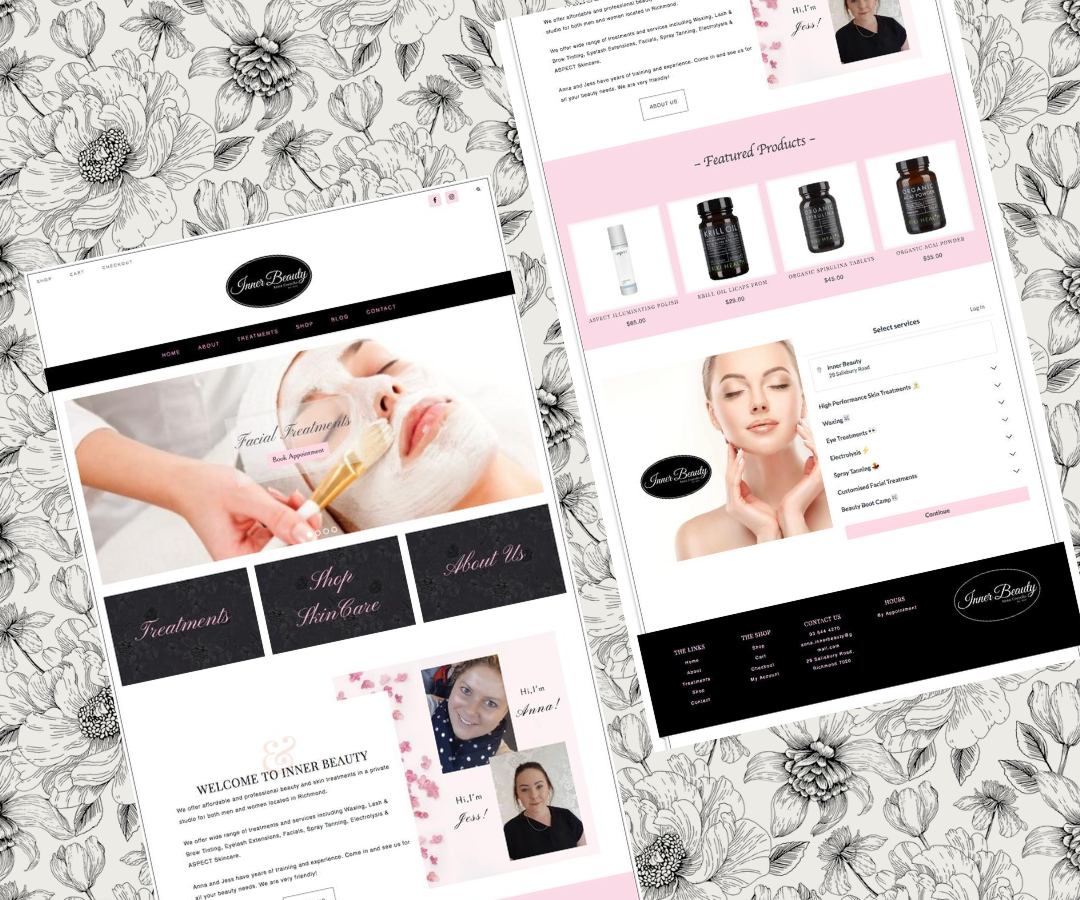Beauty Skin Clinic Web Design Layout