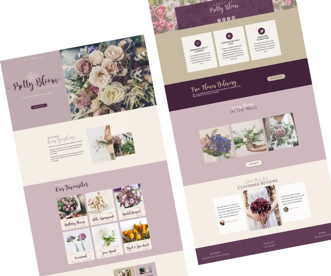 Florist Web Design Layout