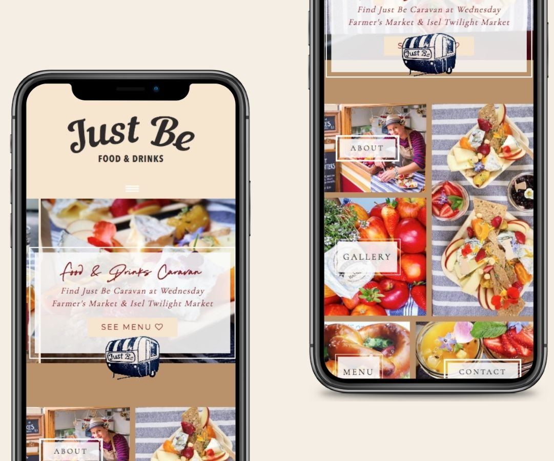 Just Be Food Caravan Website Design